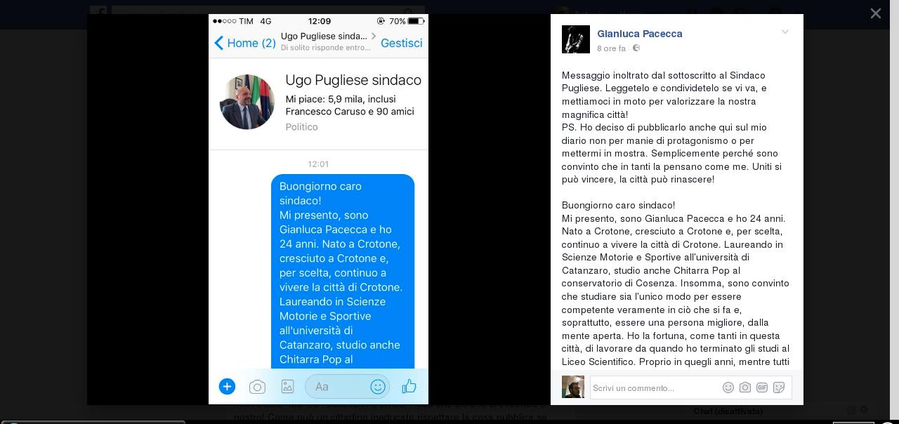 Caro Gianluca, belle parole ma pessimo interlocutore